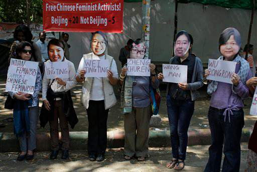 India China Activists Detained