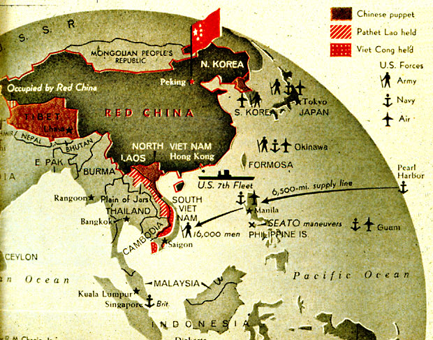 Cold war map asia
