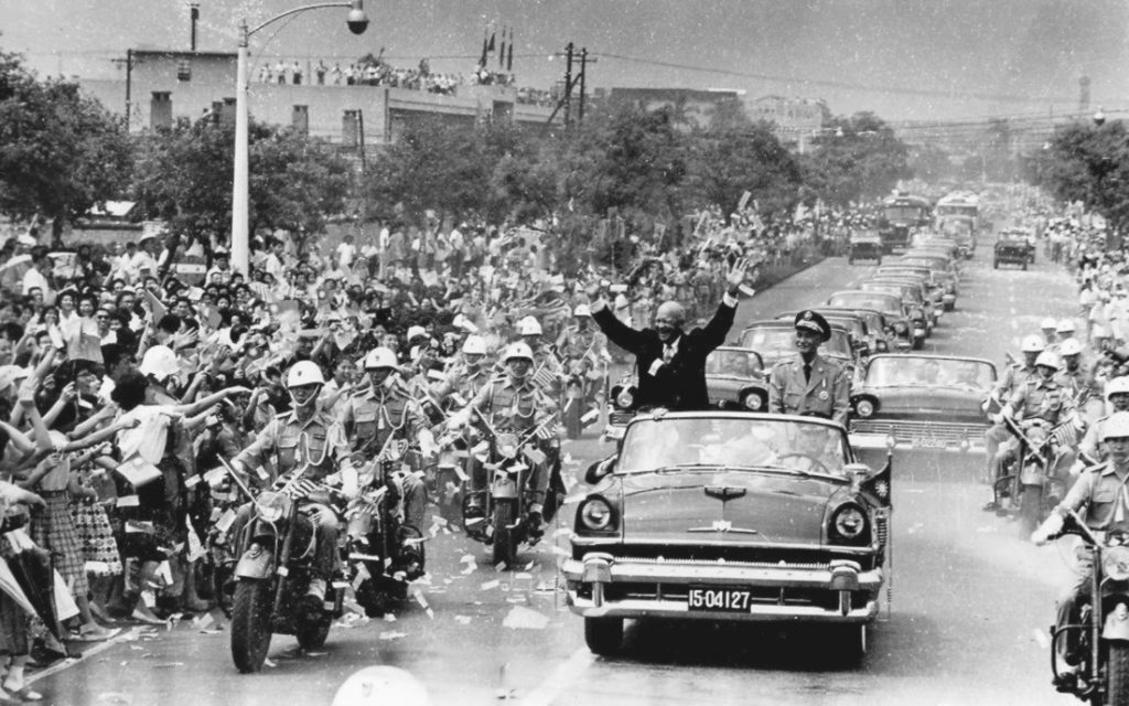 U.S._President_Eisenhower_visited_TAIWAN_美國總統艾森豪於1960年6月訪問臺灣台北時與蔣中正總統-2
