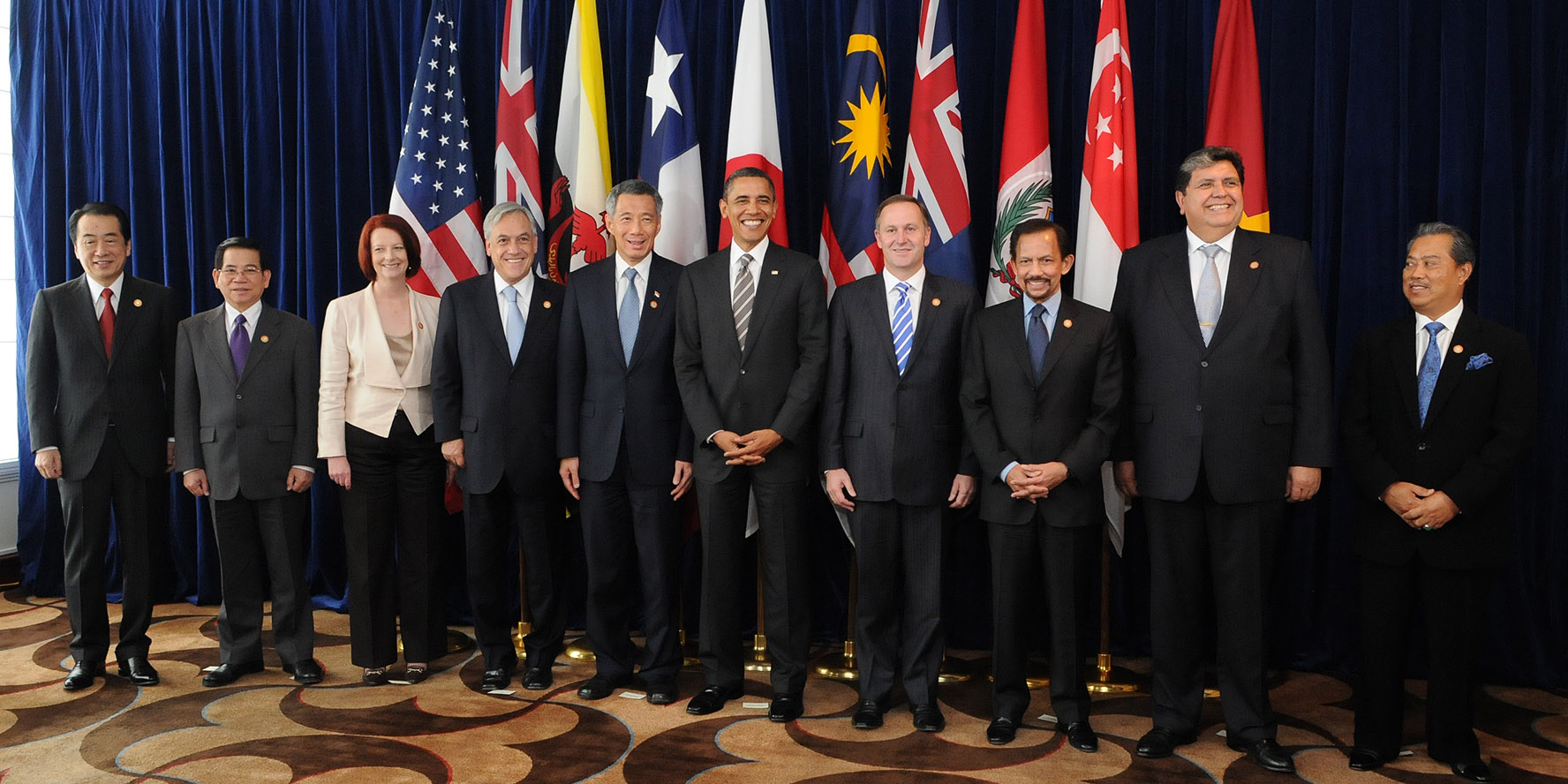 Leaders of prospective TPP members in 2010