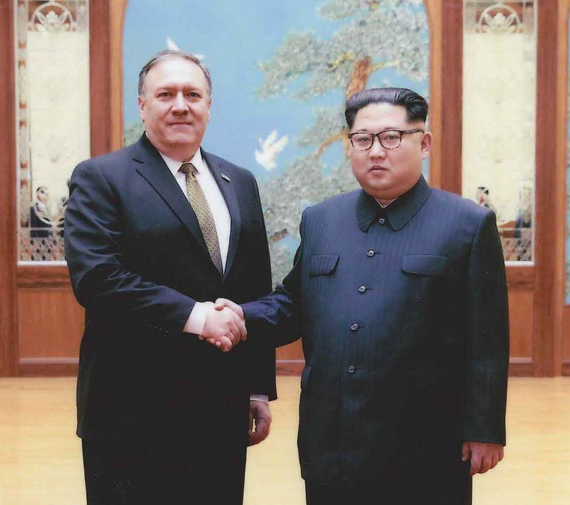 The leaders of South and North Korea gathered to meet